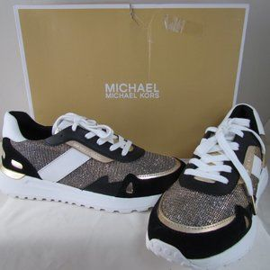 Michael Kors Monroe Glitter Chain-mesh Trainer
